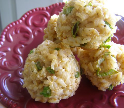 Versatile Baked Brown Rice Balls — Cooking During Stolen Moments