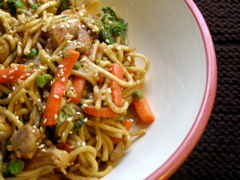 Garlic Chicken Stir Fry With Noodles Chicken Noodle Stir-fry