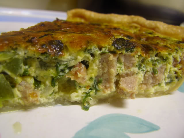Sausage & Spinach Quiche — Cooking During Stolen Moments