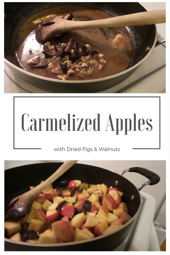 caramelized apples with figs and walnuts