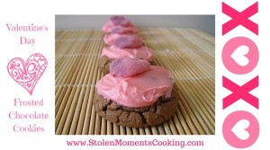 valentine's day frosted chocolate cookies